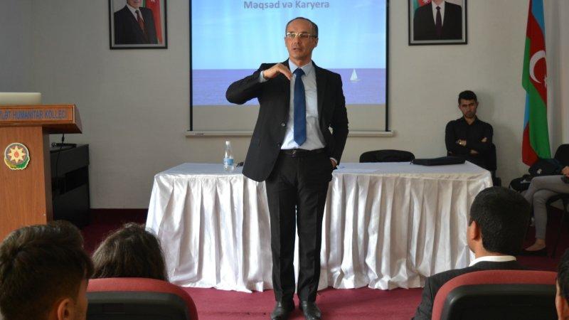 """Lənkəran Dövlət Humanitar Kollecində """"Məqsəd və Karyera"""" mövzusunda seminar keçirildi"""