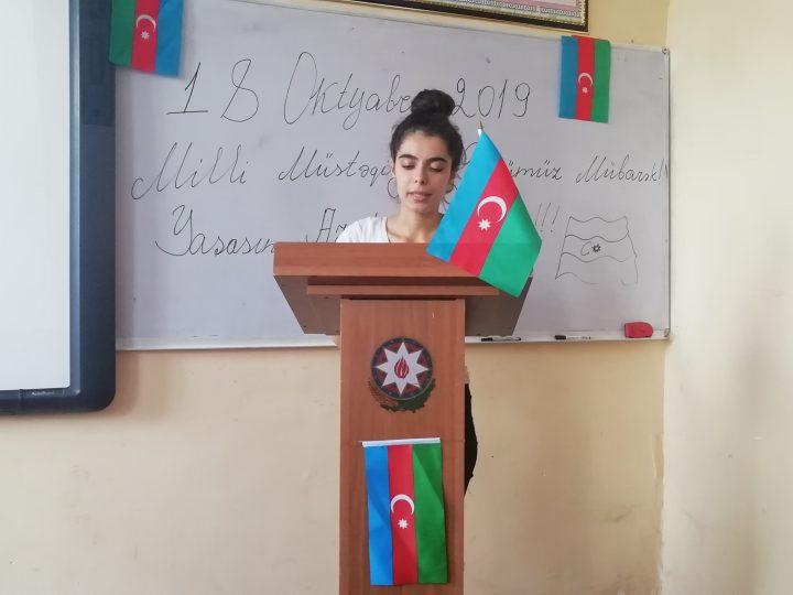 Lənkəran Dövlət Humanitar Kollecində müstəqillik gününə həsr edilmiş açıq dərs keçirilib