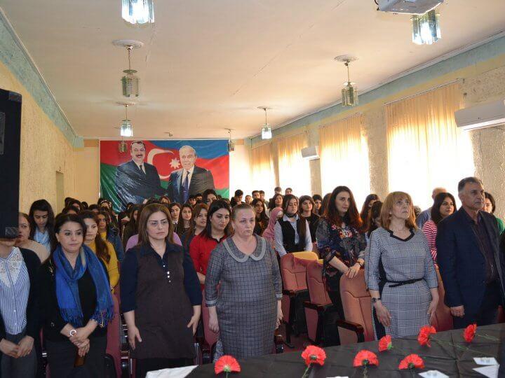 Lənkəran Dövlət Humanitar Kollecində Xocalı soyqırımının 28–ci il dönümü qeyd edildi