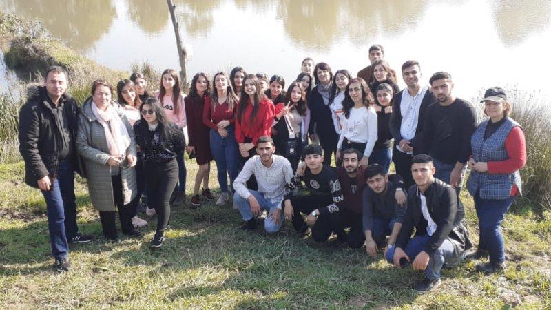 """Lənkəran Dövlət Humanitar Kollecinin müəllim və tələbələri """"Sitrus Valley"""" təsərrüfatına ekskurs etdilər"""