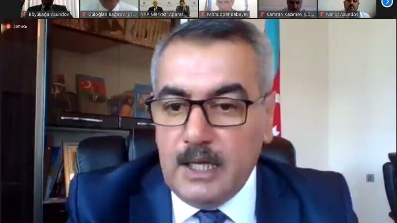 YAP Lənkəran şəhər təşkilatının XI hesabat konfransında Kollecin direktoru Ruslan Həmidov hesabat məruzəsi ilə çıxış etdi